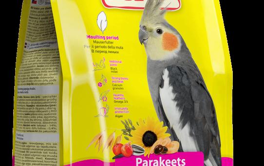 Корм РИО для средних попугаев в период линьки